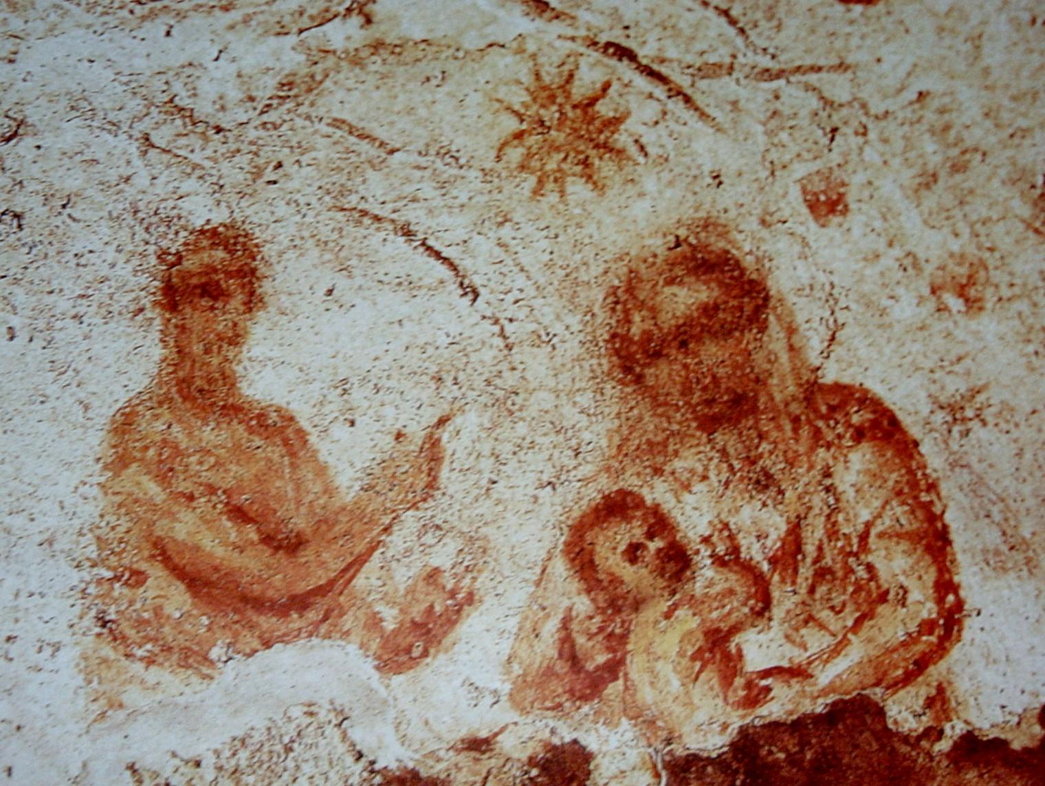 Primera representación de la Virgen María (Catacumbas de Santa Priscila)