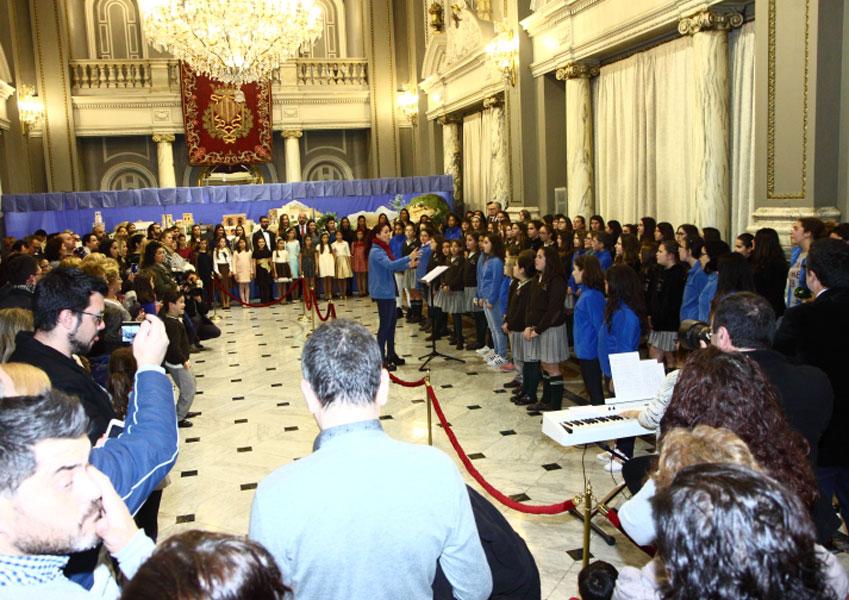 Inauguración del Belén instalado en el Excmo Ayuntamiento de Valencia